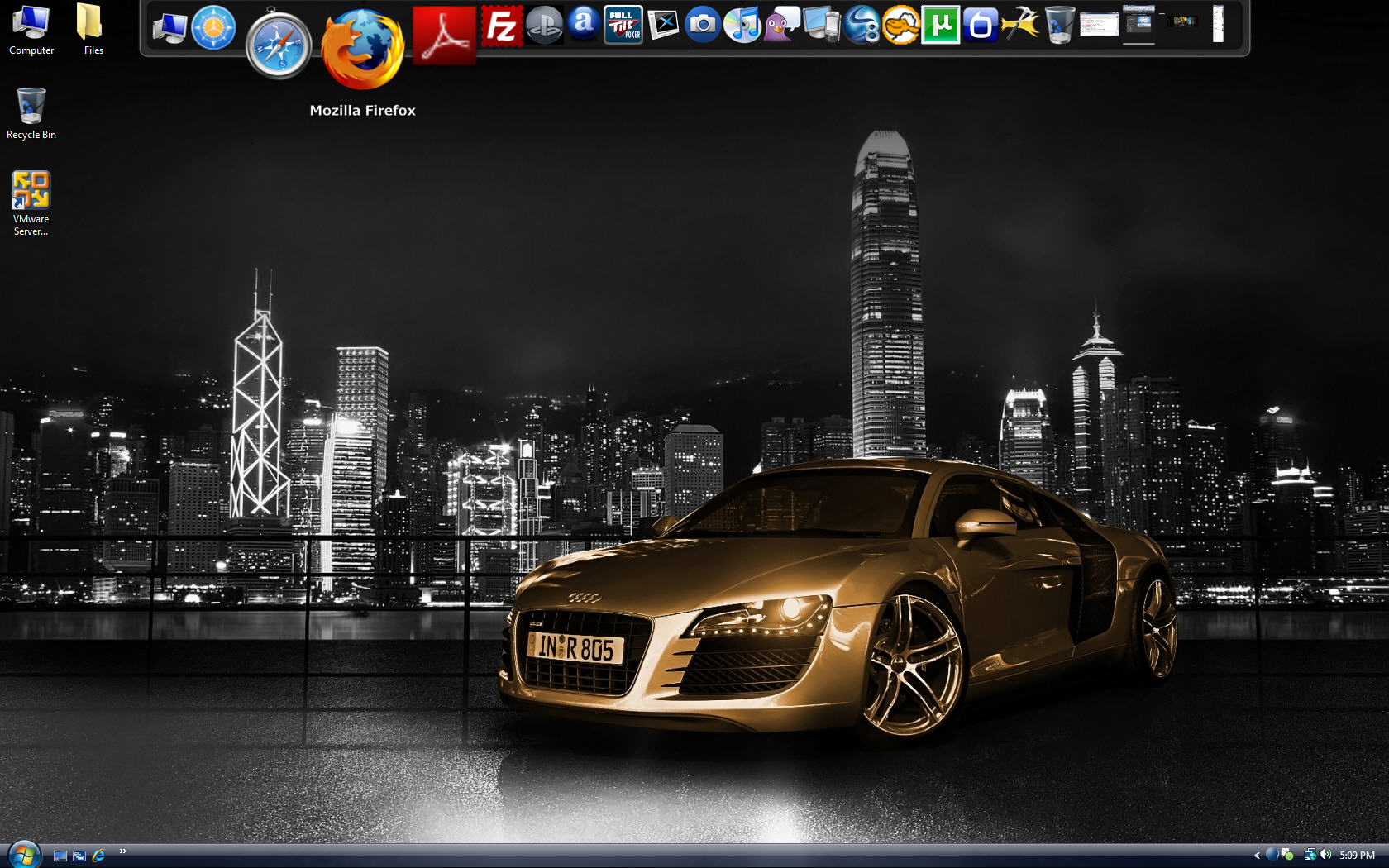 La barra de Mac... en Windows Rocketdock